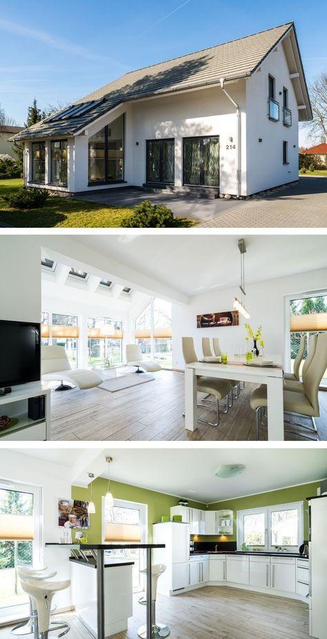 Modernes Satteldach Haus Mit Wintergarten Anbau Innen Einrichtung
