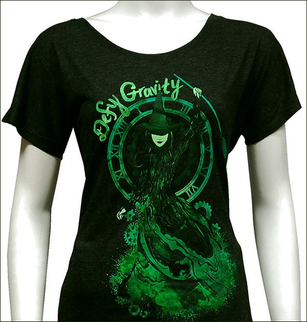 Wicked the Broadway Musical - Painted Defy Gravity Ladies Dolman T-Shirt  $44.95: someone get this for me!