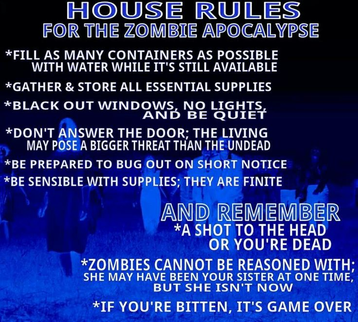 zombies - Halloween Party Rules