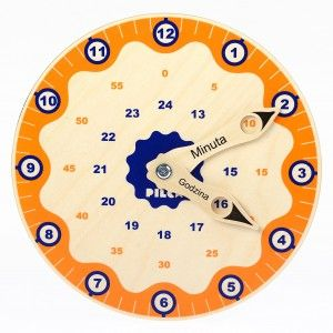 Wooden clock which will help your kid to learn hours :) #backtoschool