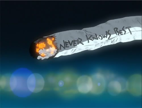 NEVER KNOWS BEST | Mamimi's cigarette | FLCL | Fooly Cooly by Gainax