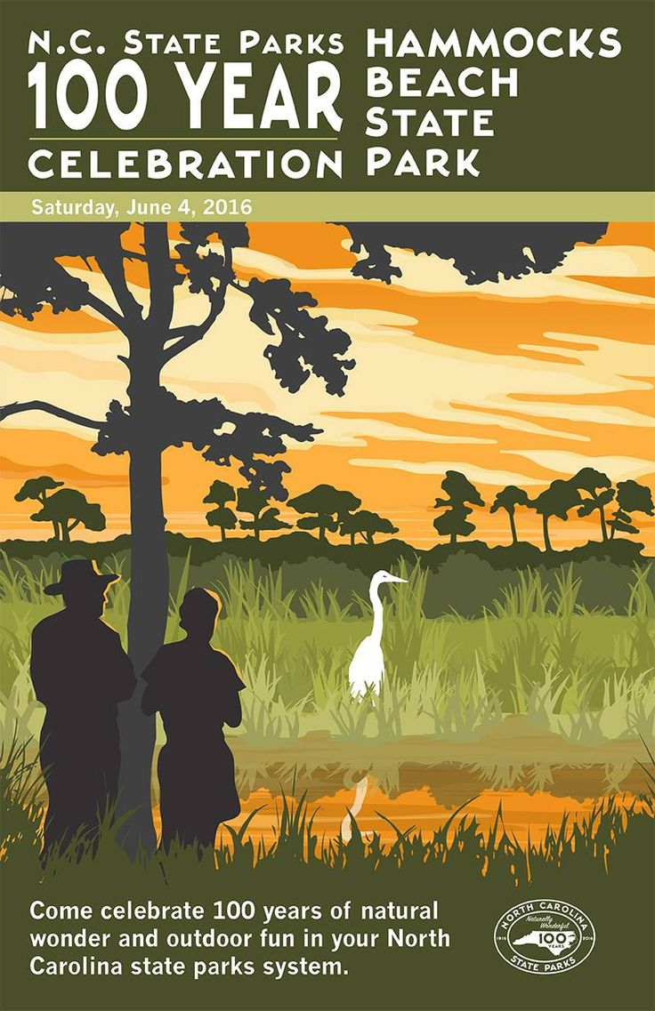 hammocks beach state park  memorative poster  part of our  memorative 100th anniversary collection  there 30 best nc park store images on pinterest   anniversary national      rh   pinterest