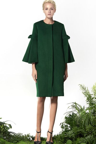 Green Wool Dress, Xmas outfit! http://www.lastyleloft.com/online/shop-by-designer/vanessa-cheung/