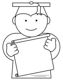 Coloring Page Template for a Graduation Theme from Making Learning Fun.