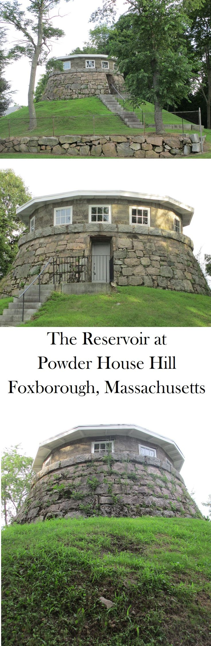 The Reservoir at Powder House Hill in Foxborough, Massachusetts. July, 2013.