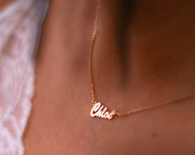 Nameplate Necklace, Gold Nameplate Necklace, Name On Necklace, Name Plate Necklace, Personalized Nameplate, Custom Nameplate, Name Necklace