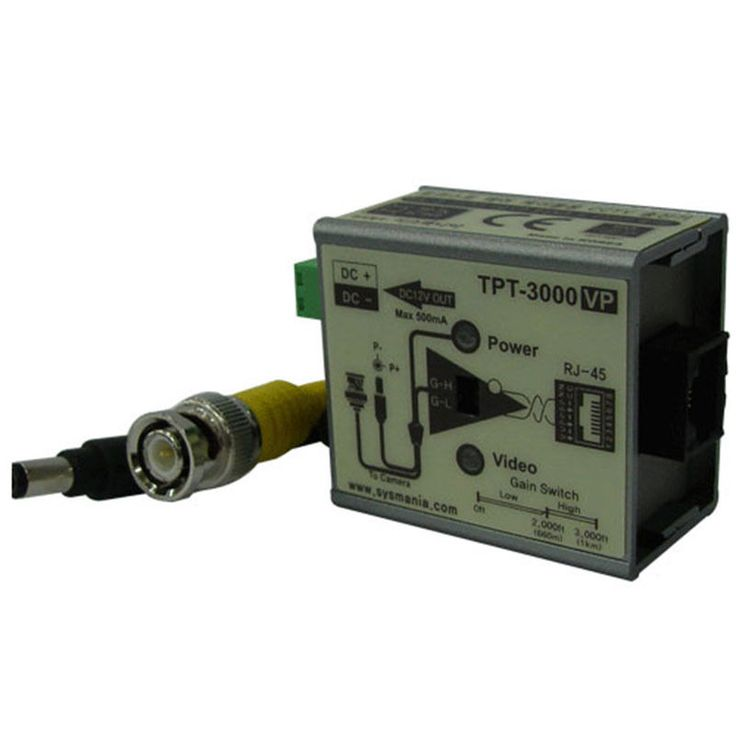 Sysmania UTP TPT-3000VP Twisted Pair Cable Transmitter with Video & Power New #SysmaniaAllimex