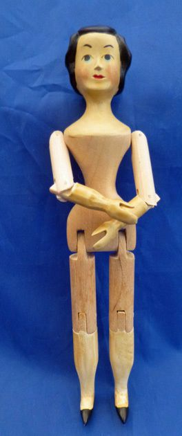 Sherman Smith 4 23 66 Hitty Doll Jointed Pegged All Wood Signed Dated RARE | eBay