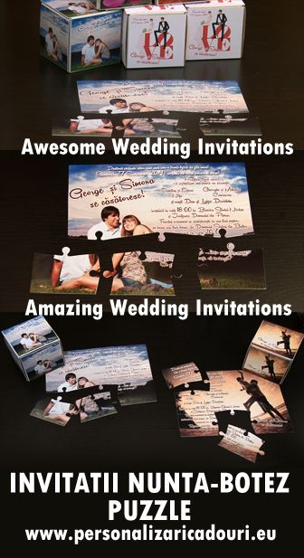 Puzzle wedding invitations 2014