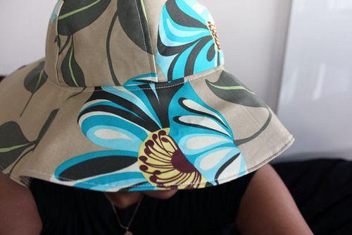 free sewing DIY kids sun hat pattern