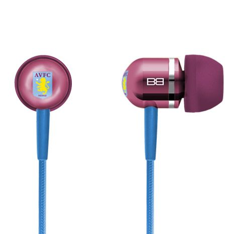 High Performance In Ear Headphones with Mic & Mp3 Controller  Exclusive AVFC BassBuds  -Revolutionary patent pending I.C.E technology -Club insignia on earphones -Unique club colours -3 Interchangeable cap designs Integrated hands free microphone -Compatible with all smart phones -Advanced Crystaltronics Sound Technology -Genuine SWAROVSKI® ELEMENTS crystals