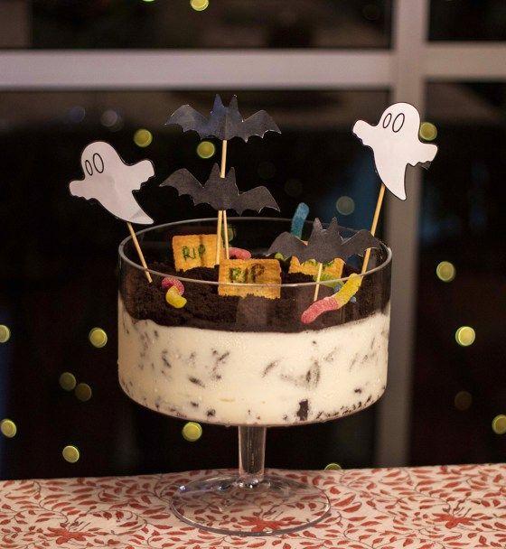 Sweet Spooky Graveyard dessert