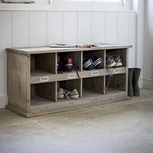 Les 25 meilleures id es de la cat gorie bancs de stockage de chaussures sur pinterest bancs de - Rangement chaussures exterieur ...
