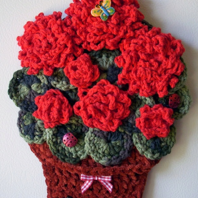 crocheted wall decorations pinterest personal blog. Black Bedroom Furniture Sets. Home Design Ideas
