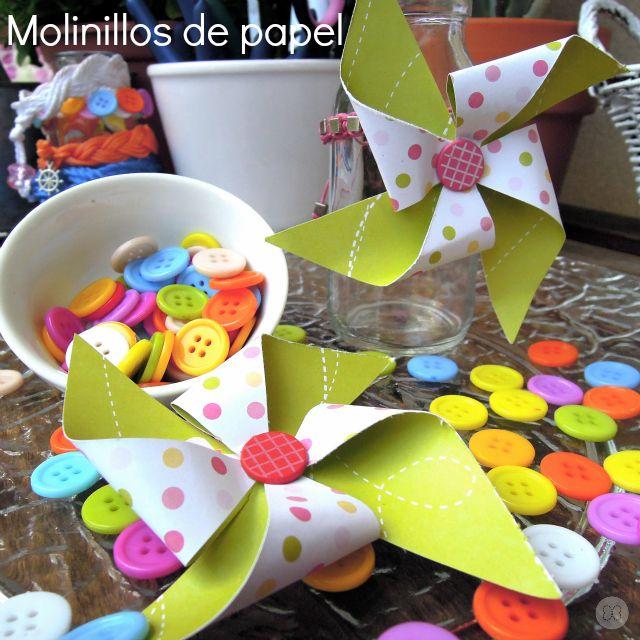 Tutorial: Cómo hacer molinillos de papel