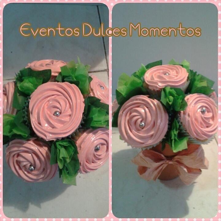 Ramos de Cupcakes con crema