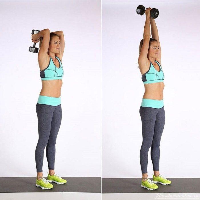 Лучшие упражнения с гантелями для женщин для похудения рук