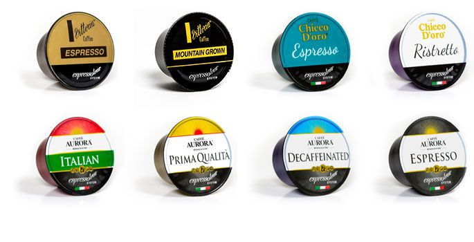 Our range of Caffe Aurora and Caffe Chicco D'oro coffee capsules are roasted and packed in Italy.