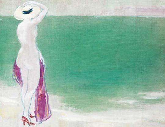 Vaszary János-Akt tengerparton_1938