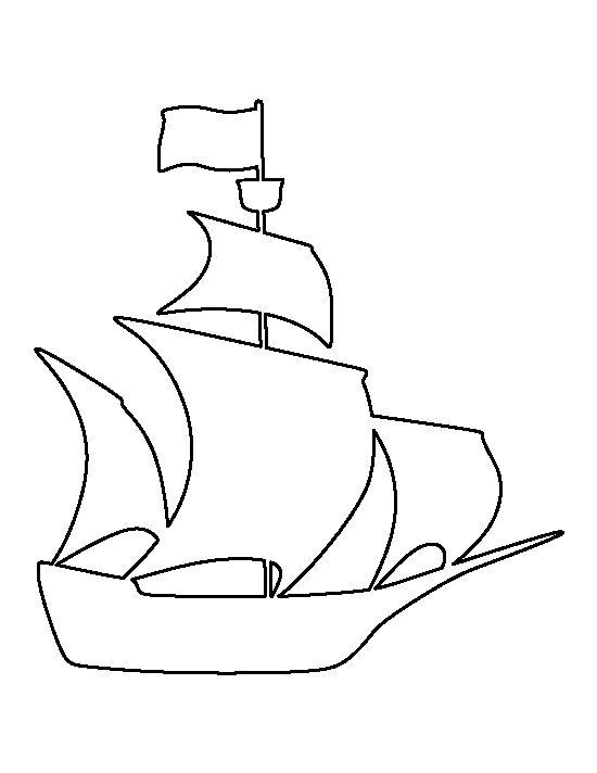 Шаблоны к открытке кораблик