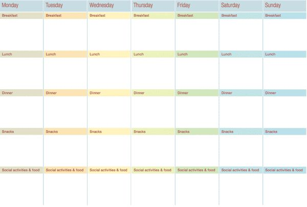 weekly meal planner chart thumbnail