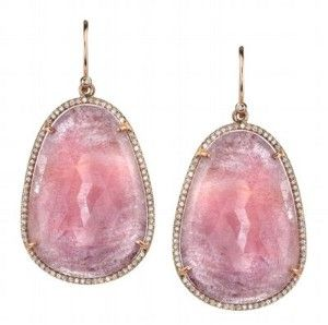 Irene Neuwirth Rose Gold, Sapphire and Diamond Pave Earrings