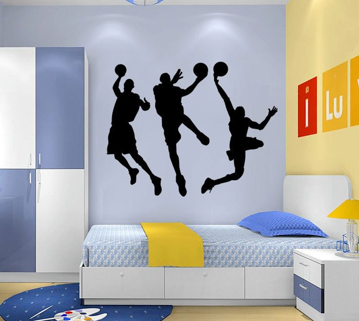 Playing basketball bedroom living room wall stickers Creative DIY home decoration Wall stickers indoor
