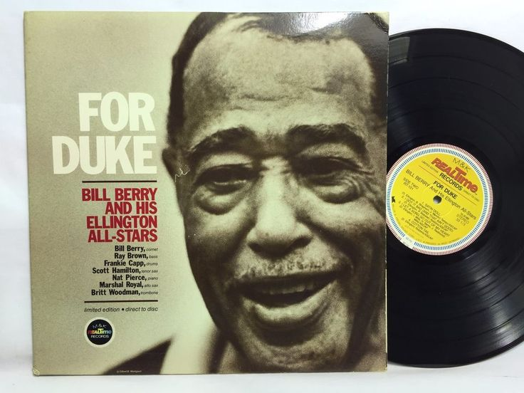 Bill Berry and His Ellington All- For Duke LTD Direct To Disc LP M&K Audiophile