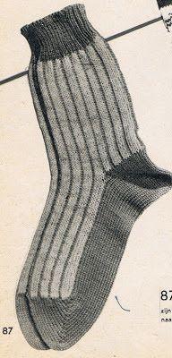 sokken breien op 2 naalden