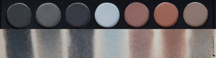  Review  Morphe Brushes 35C Multi Color Matte Palette Row 1 Swatches