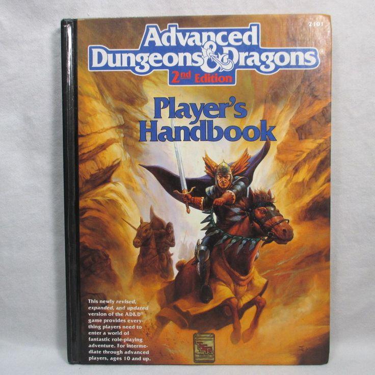 Advanced Dungeons & Dragons Player's Handbook 2101 1st Printing Hardcover 1989
