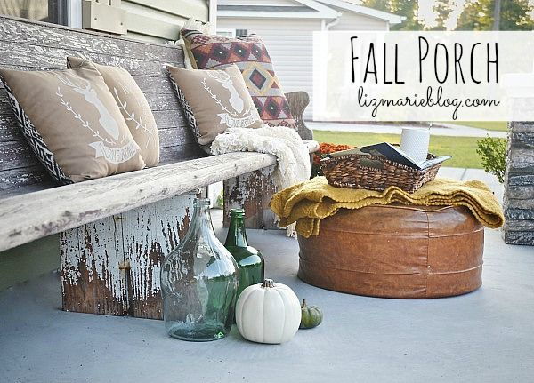Fall porch - lizmarieblog.com