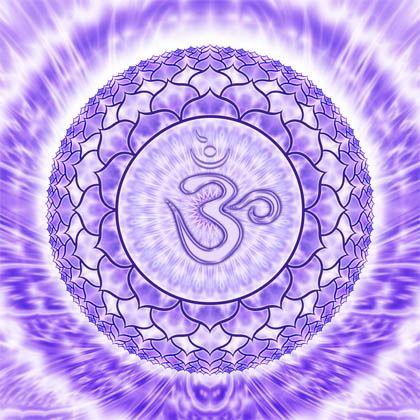 """7° Chakra - Sahasrara. """"La mia consapevolezza spirituale è adesso completamente risvegliata, sono un tutt'uno con l'intero Universo!"""""""