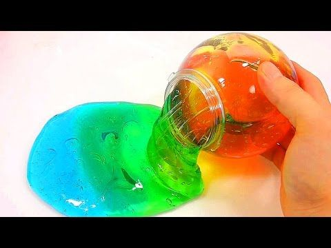 Learn Colours How To Make Rainbow Colors Jelly Monster Slime Foam Clay Toys DIY