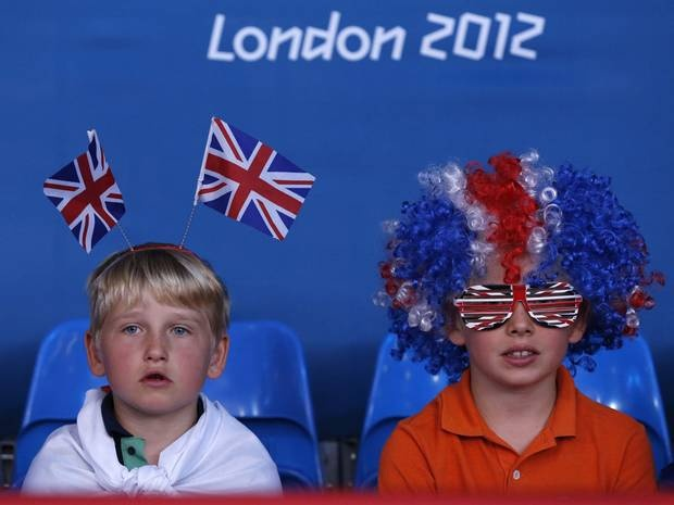 Kids enjoying The Olympics and supporting Team GB