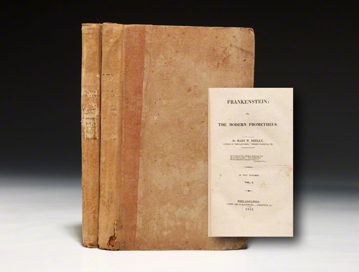 First American edition, 1833, of Frankenstein--an exceptional copy in original boards (BRB 79411)