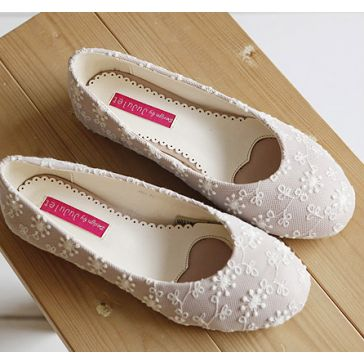 New Fashion Sweet Flower Lace Women's Flats Shoes - Shoes - Women's Style Free Shipping