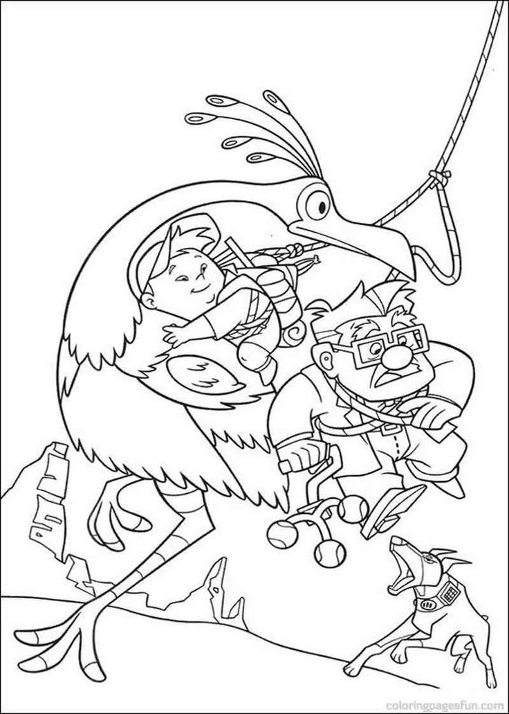 Up Coloring Pages Carl And Russell Escape Zoo coloring