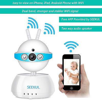 Smart 720P WiFi Wireless CCTV Camera 2 Band 2 Way Audio Phone View Baby Monitor