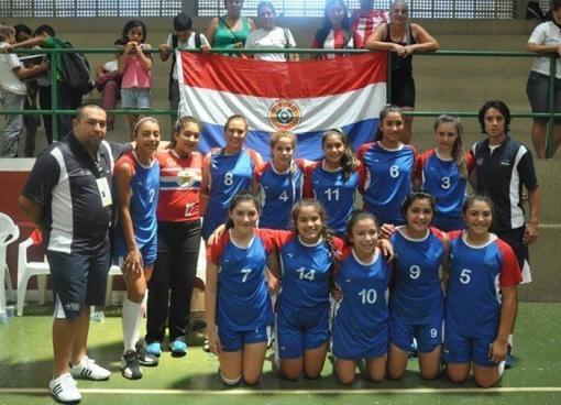 Juegos Escolares: Paraguay con medalla de oro en handbol damas   DEPORTES   LANACION.com.py