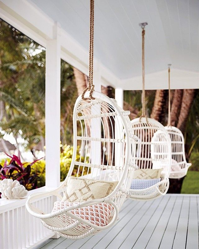 indoor hanging chairs canada bergere with ottoman first look serena lily s summer collection stylish spaces porch chair home