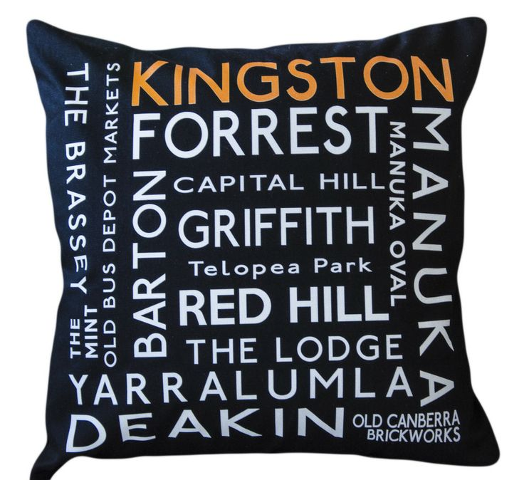 Tramroll banner style cushion Canberra suburbs