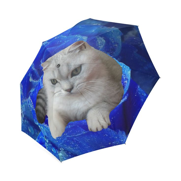 Cat and Rose Foldable Umbrella. FREE Shipping.  #erikakaisersot #artsadd #umbrellas  #cats