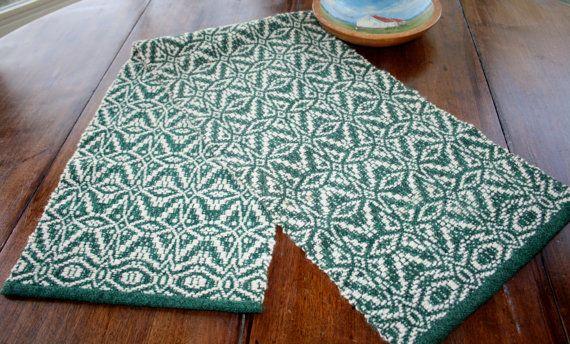 Vintage Wool Woven Scandinavian Table Runner by AstridsPastTimes