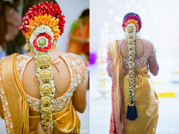 South Indian bride. Gold Indian bridal jewelry.Temple