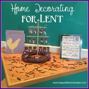 50 best crafts for church images on pinterest catholic for Lent decorations for home