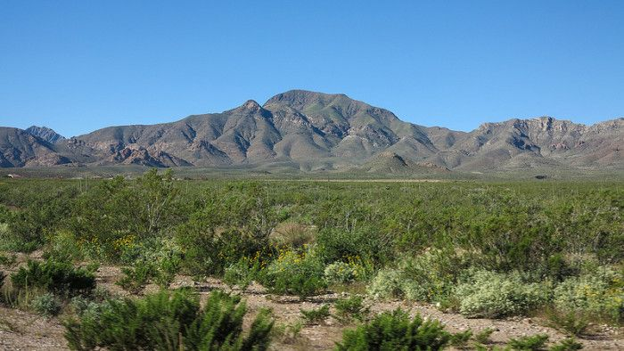 3. The largest mountain range in Texas, the Franklin Mountains near El Paso.