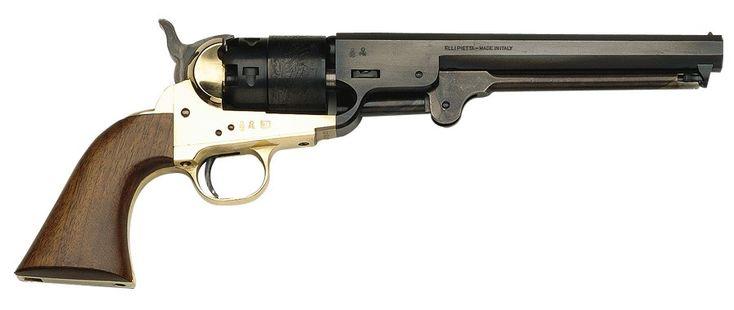 1851 Black Powder Navy Revolver .44 Cal Brass - Blued, by Traditions - FR18511 - Black Powder - No FFL Required.
