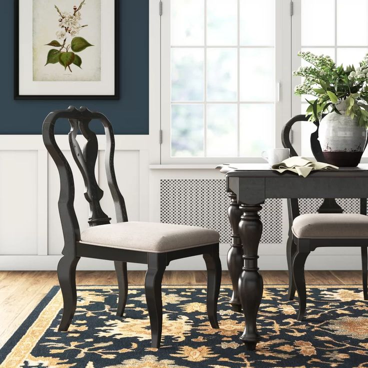 Dalton upholstered queen anne back side chair side
