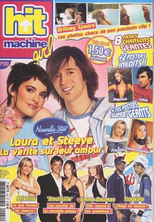 Hit Machine Girl / 21-04-2004 N° 22 : Nouvelle Star 2 / Steeve Et Laura (2p) - Emma Daumas (2p) - Tom Welling (2p) - Hilary Duff (2p) - Britney Spears (2p) - Avril Lavigne (1p) - Kyo (1p) *Avril Lavigne - all for beauty ->>> | https://tpv.sr/1QoBwpn/